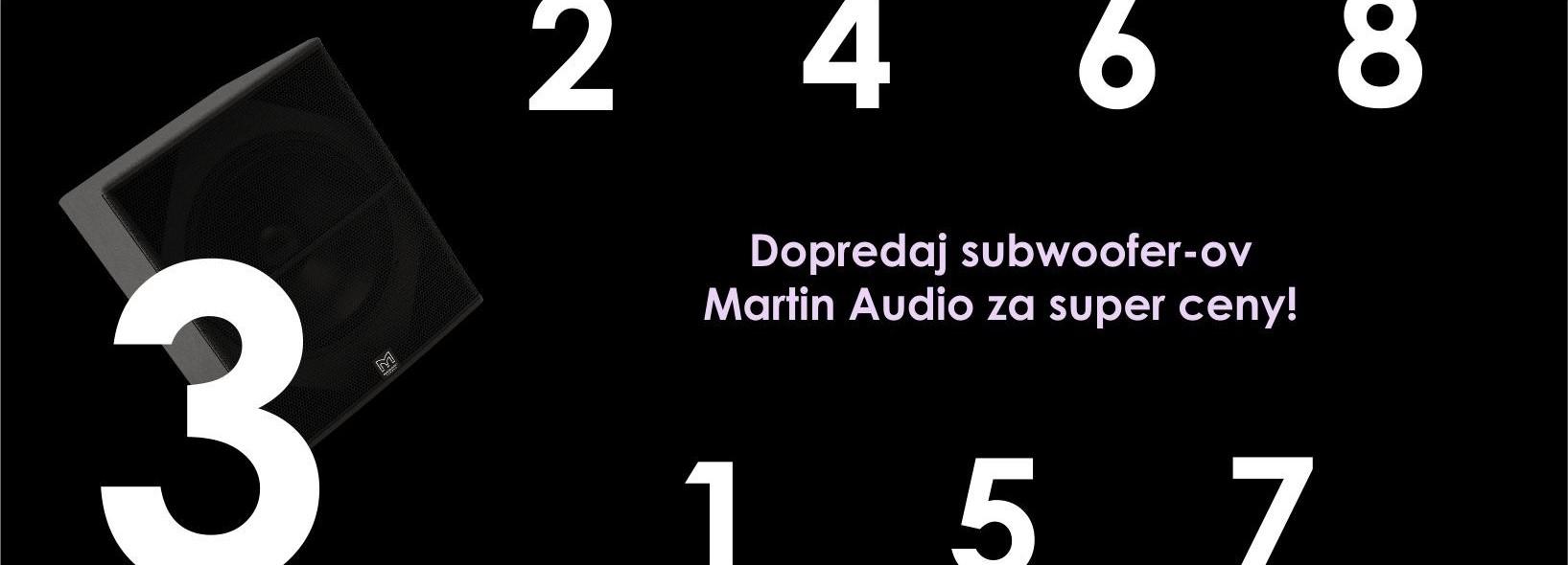 Dopredaj subwoofer-ov CSX Martin Audio